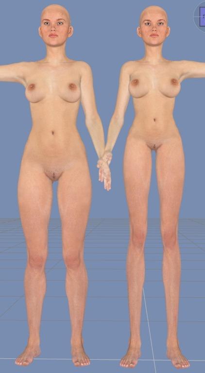 Victoria6の足を長くする。【Daz Studio4.6】日本のアニメ体型にする。