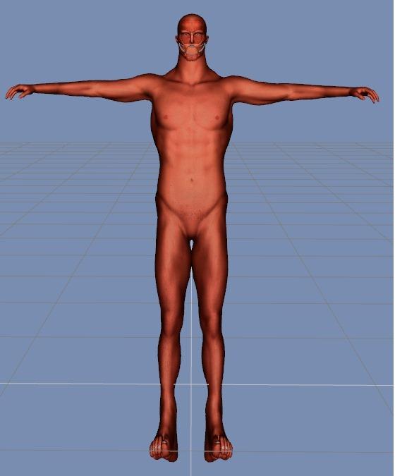 【Hexagon】3Dで『進撃の巨人』の50メートル級巨人を作ってみる。6【Daz3D】