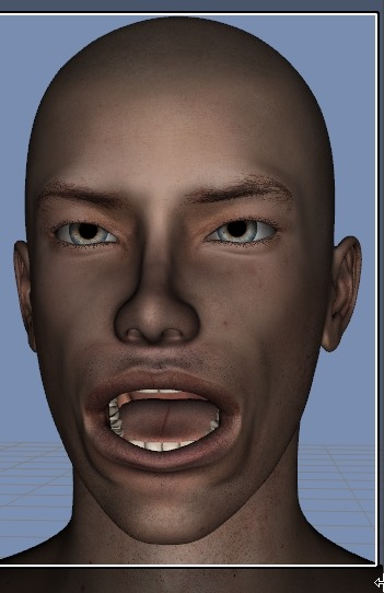 130814_D 天川和香 Create3D 【Daz Studio4.6】ル・アを作る。顔のポリゴンを修正する。【Metasequoia】0123