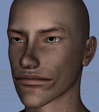 130815_D 天川和香 Create3D 【Daz Studio4.6】ル・アを作る。顔のポリゴンを修正する。0131