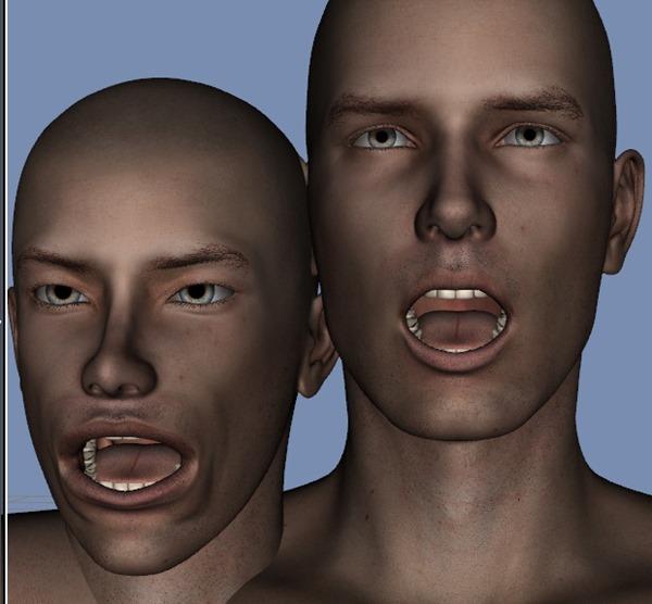 130815_D 天川和香 Create3D 【Daz Studio4.6】ル・アを作る。顔のポリゴンを修正する。0143