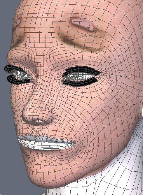 130815_D 天川和香 Create3D 【Daz Studio4.6】ル・アを作る。顔のポリゴンを修正する。0149