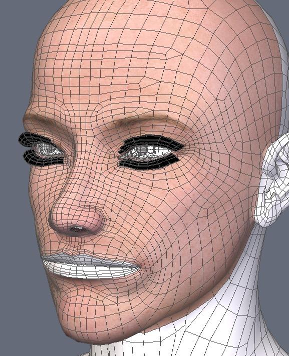 130815_D 天川和香 Create3D 【Daz Studio4.6】ル・アを作る。顔のポリゴンを修正する。0151
