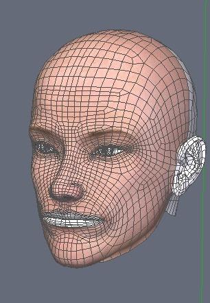 130815_D 天川和香 Create3D 【Daz Studio4.6】ル・アを作る。顔のポリゴンを修正する。0153