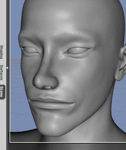 130815_D 天川和香 Create3D 【Daz Studio4.6】ル・アを作る。顔のポリゴンを修正する。0159