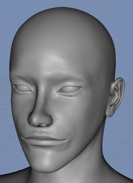 130815_D 天川和香 Create3D 【Daz Studio4.6】ル・アを作る。顔のポリゴンを修正する。0168