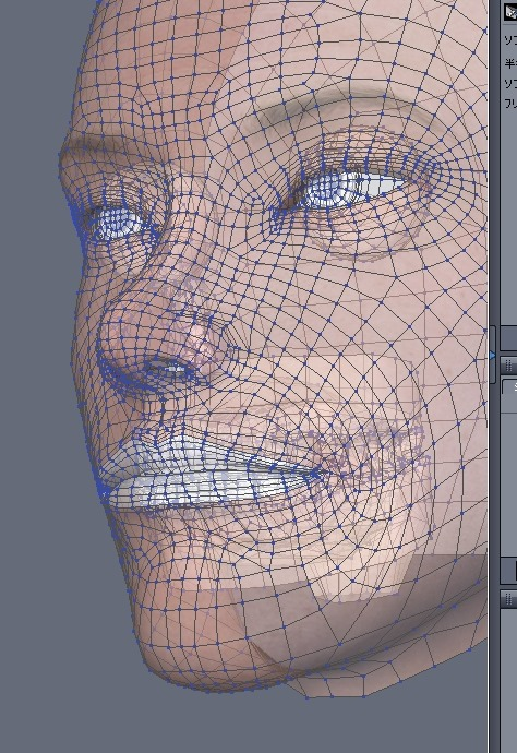 130815_D 天川和香 Create3D 【Daz Studio4.6】ル・アを作る。顔のポリゴンを修正する。0170