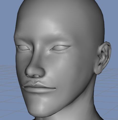 130815_D 天川和香 Create3D 【Daz Studio4.6】ル・アを作る。顔のポリゴンを修正する。0174