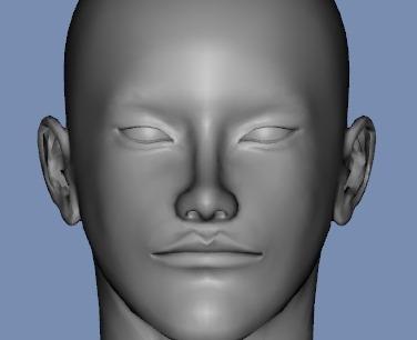 130815_D 天川和香 Create3D 【Daz Studio4.6】ル・アを作る。顔のポリゴンを修正する。0175