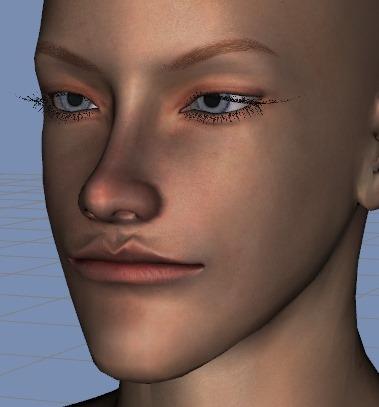 130815_D 天川和香 Create3D 【Daz Studio4.6】ル・アを作る。顔のポリゴンを修正する。0179