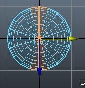 Autodesk Maya 2014 半球同士を重ねて、エッジを一気にマージする。
