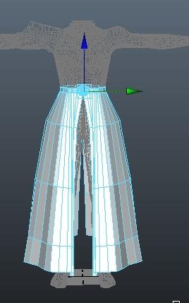 スカイハイを仕上げる。8 スカートを作る。【Autodesk Maya 2014】