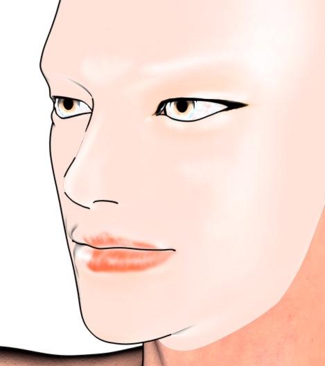 【Daz Studio4.6】漫画用キャラを作る。9 顔テクスチャを作る。【ZBrush 4R6】