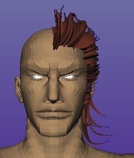 【Autodesk Maya 2014】アントニオ・ロペスの髪を作る4 【髪の毛作成】