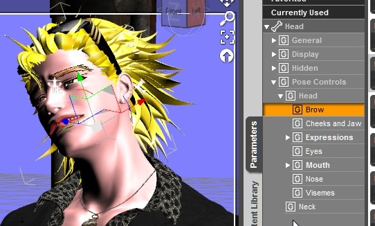【Daz Studio4.6】表情決めの邪魔になる矢印を消す方法。