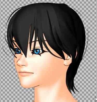 【Autodesk Maya 2014】で刀剣乱舞の堀川君の髪を作成する。