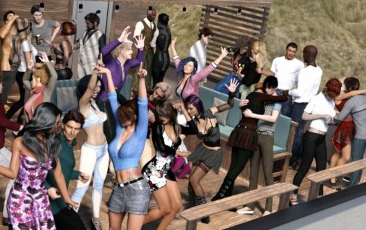 【 Daz Studio4.10アイテム確認】 Now-Crowd Billboards【ハリボテ群衆】